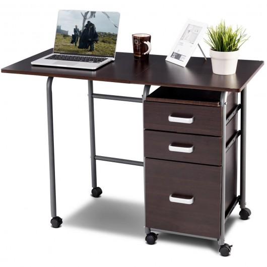 Folding Computer Laptop Desk Wheeled, Computer Desk Wheels